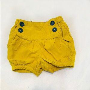 Baby boden mustard yellow shorts